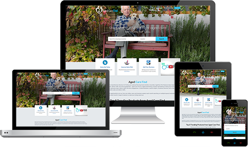 Aged Care Find displayed beautifully on multiple devices